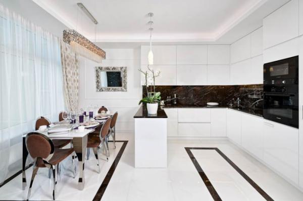 Арт-деко на кухне: 55 фото в интерьере, особенности оформления