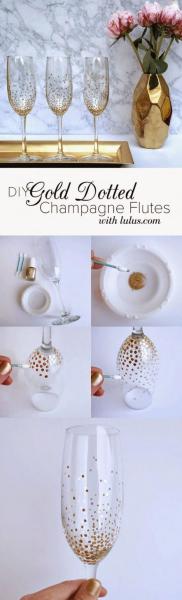 Бокал шампанского: мастер-класс по праздничному декору и 80 избранных фотоидей