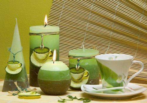 Декоративные свечи в интерьере дома в фото