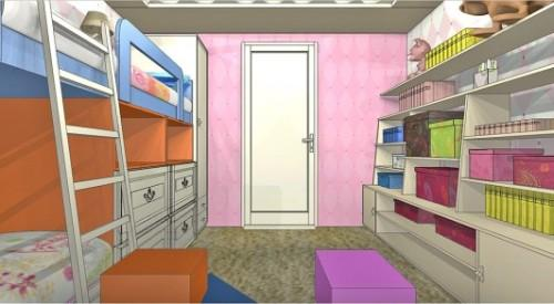 Детская комната для двух девочек в фото
