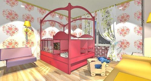 Дизайн детской комнаты для новорожденного. Проект в фото