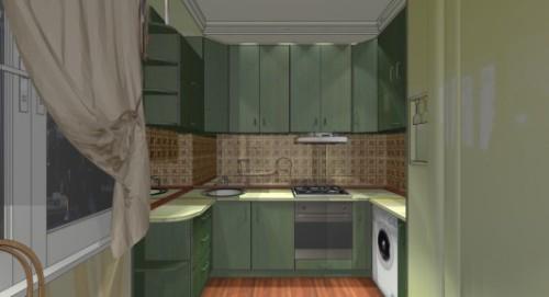 Дизайн кухни 9 кв м в фото