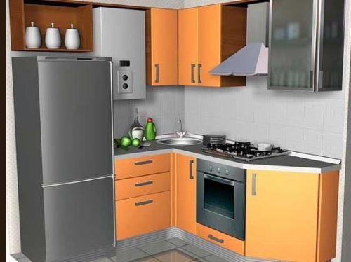 Дизайн кухни с газовой колонкой в фото