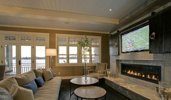 Гостиная в загородном доме: 5 особенностей интерьера