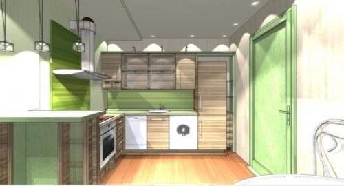 Интерьер кухни с барной стойкой в фото