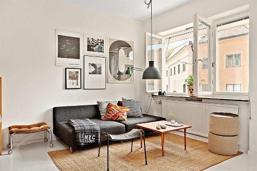 Интерьер маленькой квартиры в фото