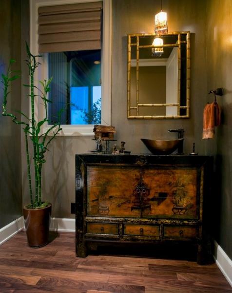 Как использовать бамбук в интерьере — 30 фото