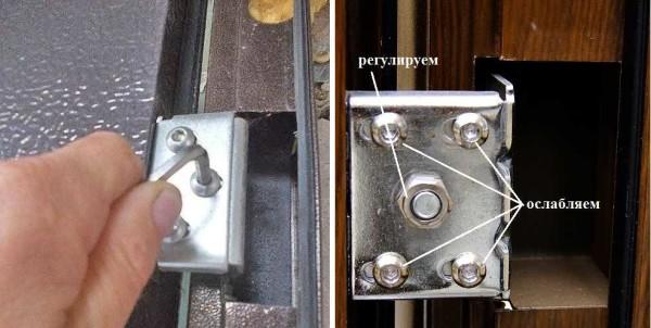 Как отрегулировать входную дверь: из металла, ПВХ в фото
