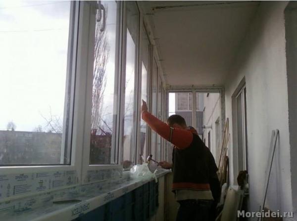 Как сделать ремонт балкона своими руками