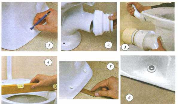 Как устранить протечку гофрированной трубы унитаза? в фото