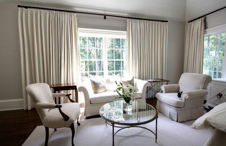 Какую подобрать плотную ткань для штор— велюр или хлопок? в фото