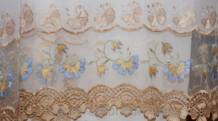 Какую ткань с вышивкой выбрать для штор? в фото