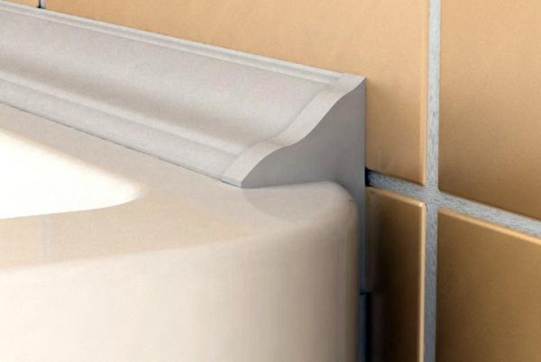 Керамический плинтус для ванной – плюсы, укладка, видео