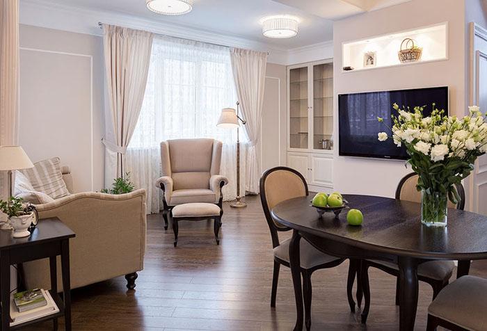Классические шторы для гостиной: как сделать правильный выбор? в фото