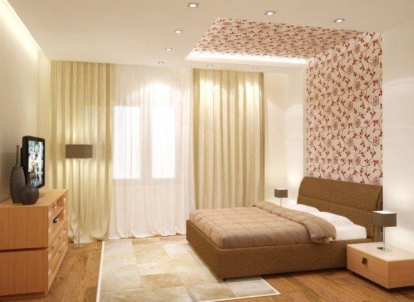 Комбинация обоев в спальне: варианты современной отделки
