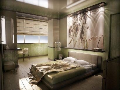 Комбинированные обои в спальню: правила выбора и хорошего тона в оформлении