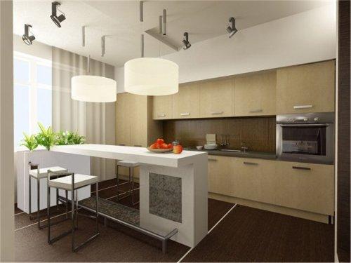 Кухня 15 кв. м. Фото в фото