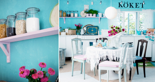 Кухня бирюзового цвета в фото