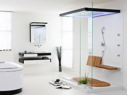 Минимализм в интерьере ванной в фото