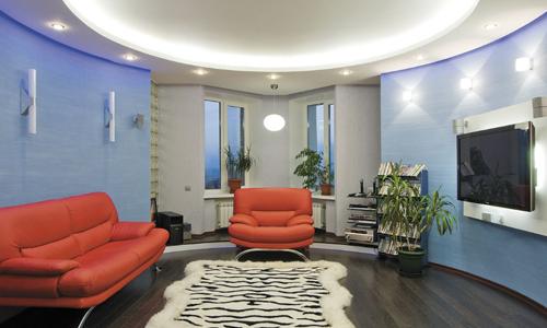 Монтаж светодиодной подсветки натяжного потолка своими руками в фото
