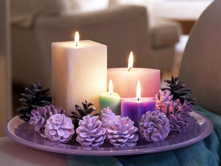 Новогодние идеи оформления свечей своими руками в фото
