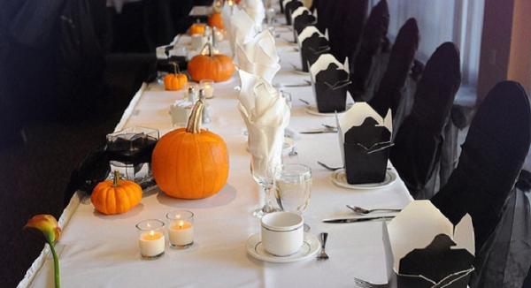 Оформление стола на Хэллоуин своими руками