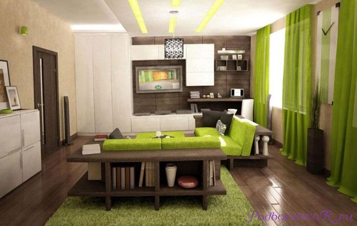 Оливковые шторы в спальню, гостиную и на кухню— лучшие решения в фото