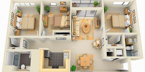 Планировка комнат в частном доме в фото