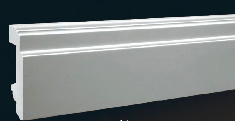 Полиуретановые плинтуса: особенности, преимущества, установка в фото
