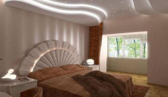 Потолки для спальни – обзор основных вариантов оформления