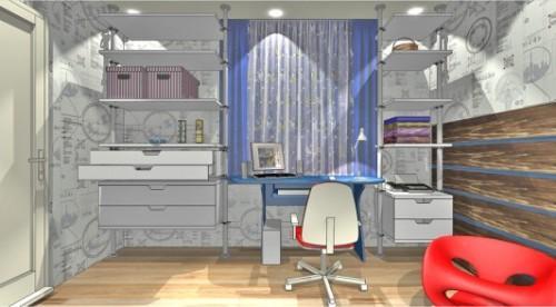 Проект детской комнаты для мальчика в фото