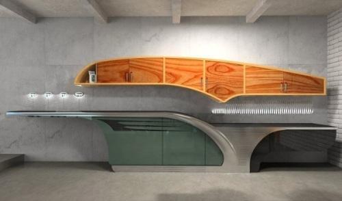 Проект современной кухни Buick-Chief в фото