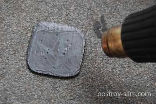 Ремонт мягкой кровли из еврорубероида в фото