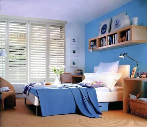 Синий цвет в интерьере — фото в фото