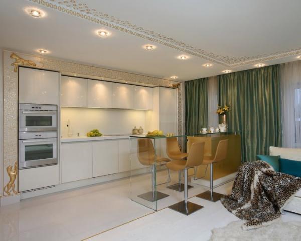 Современная кухня с барной стойкой: дизайн, 60 фото в интерьере