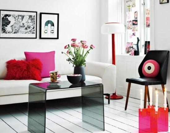 Современный шик дизайна интерьера в розовом цвете от Laura Terp Hansen в фото