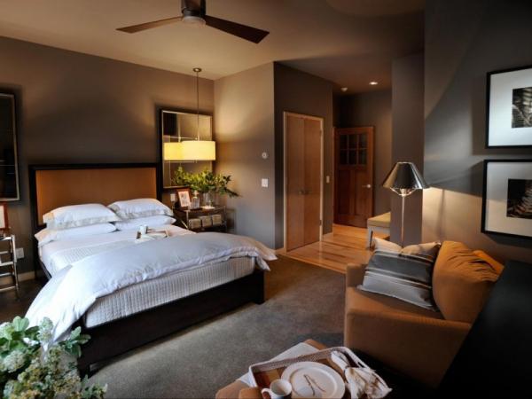 Спальня в коричневых тонах — 83 фото подбора хороших сочетаний цвета