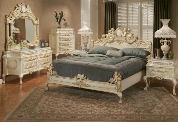Спальня в стиле Рококо — ежедневная высокопарная роскошь с излишествами + 69 фото