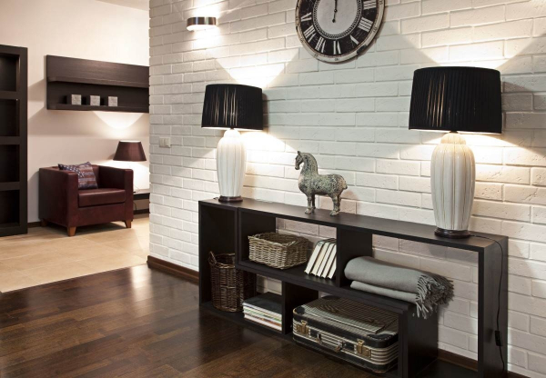 Стильный интерьер гостиной: 4 вида декоративного камня, фото