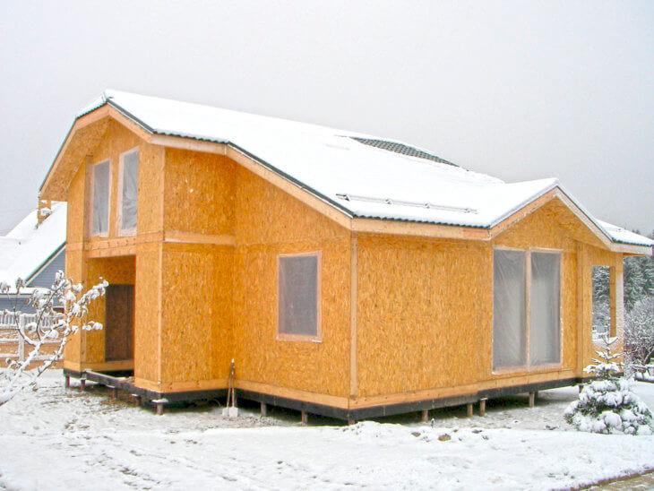 Строим дом своими руками из СИП панелей в фото