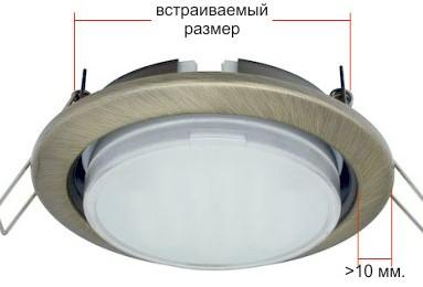 Точечные светильники: виды, размеры, особенности монтажа в фото