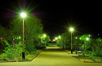 Уличное освещение в фото