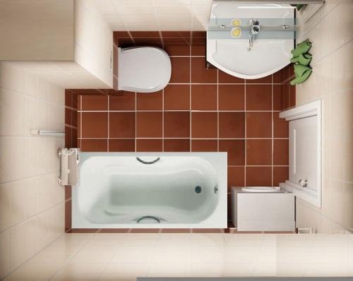 Ванная комната 4 кв. м в фото