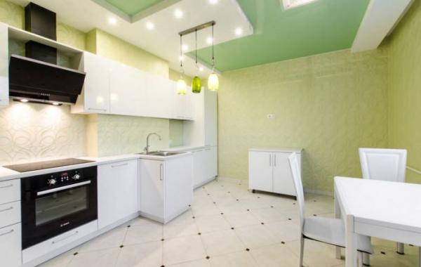 Зеленые обои на кухне: 55 стильных идей и фото