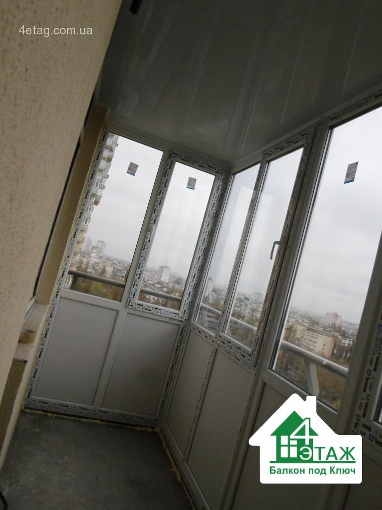 """Недорогой балкон под ключ вишневое от компании """"4 этаж балко."""
