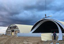 Строительство быстровозводимых бескаркасных ангаров