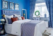 Синий цвет в интерьере комнат