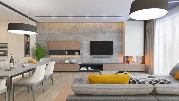 дизайн интерьера четырехкомнатной квартиры в неоклассике Запорожье гостиная1 1024x576